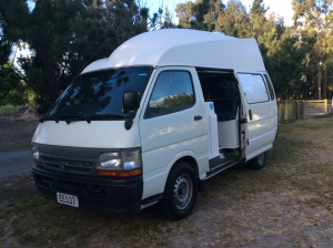 The word's angriest sewing machine - a Toyota Hiace Campervan