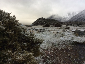 A snowy evening at Mt. Cook